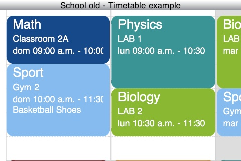 general physics class schedule